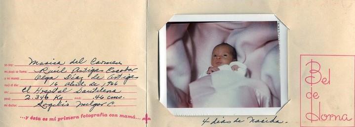Marisa 4 días de nacida